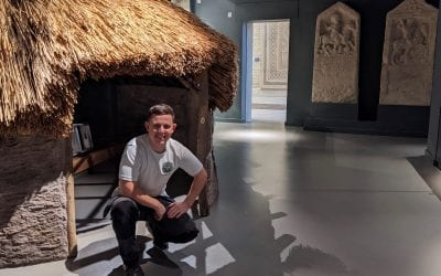 Marmoleum polish & repair at The Corinium Museum, Cirencester