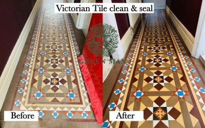 Cleaning & sealing a Victorian tiled hallway