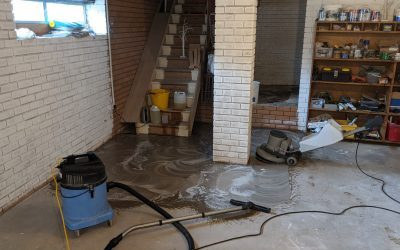 Concrete cleaning for a new yoga studio